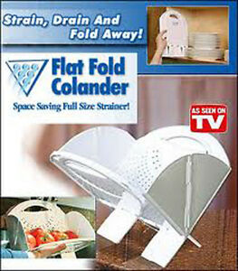 Flat Fold Colanders, Perfect for Gifts, Space Saver RV's & Campers