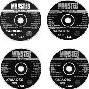 KARAOKE MONTER HITS CDG 4 New Disc Set MALE 80'S HITS RAP,FEMALE HITS