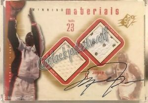 MICHAEL JORDAN 2000-01 UD SPX WINNING MATERIALS GAME USED SNEAKER JERSEY PATCH A