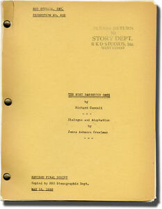 Irving Pichel MOST DANGEROUS GAME Screenplay archive for the 1932 film #136754