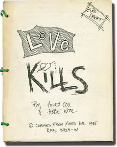 Sex Pistols SID AND NANCY LOVE KILLS Original screenplay for the Signed #139365