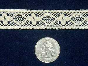 NEW DOLL HEIRLOOM SEWING COTTON CLUNY LACE INSERTION IN HTF ECRU AUSTRIA BTY $2.99