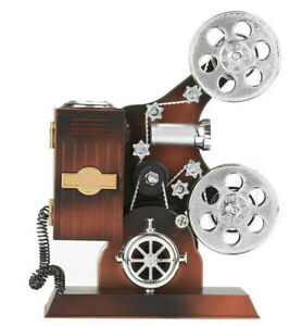 Handcraft Vintage Film Projector Music Box Antique Decoration Jewelry Box Gift