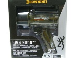 Browning 3717195 Camo High Noon Pro 915 Lumens LED Rechargeable Flashlight