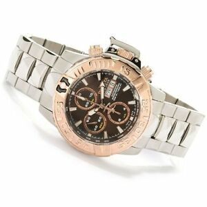 INVICTA SUBAQUA NOMA II AUTOMATIC CHRONOGRAPH BROWN DIAL MEN'S WATCH 1O656 NEW