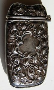 sterling silver box antique from 1927 nice scroll work 2.5 inches by 1 4 inch $325.00