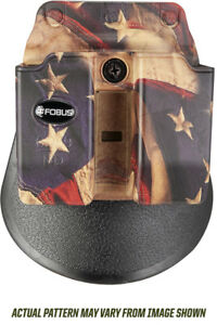 FOBUS FLAG PADDLE CLIP BELT HOLSTER DOUBLE MAG POUCH FITS 9MM 40 CAL