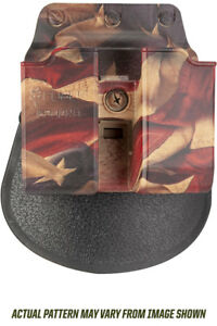 FOBUS FLAG PADDLE HOLSTER DOUBLE MAG POUCH FOR GLOCK H&K USP 9MM 40 CAL