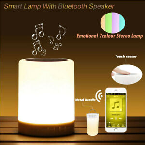 Mini Portable Smart Lamp Wireless Smart Control Color Changing Bluetooth Speaker
