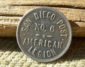 ca 1900s SAN DIEGO CALIFORNIA RARE R 10 UNLISTED MERCHANT SAN DIEGO POST TOKEN