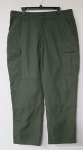 5.11 Tactical Series Green Pants Cargo Size XL Cotton Blend Part # 74280 38x31