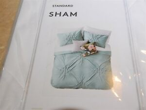 928  Nordstrom King Ethan Textured Standard Soft Jersey Pillow Sham Covers White