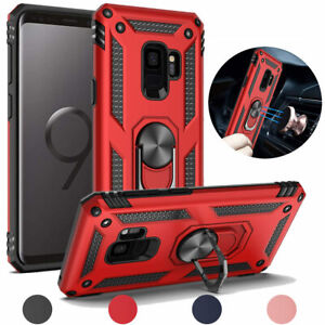 For Samsung Galaxy S9Plus Magnetic Support Metal Ring Stand Defender Case Cover
