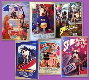 Spuds MacKenzie The Original Party Animal Budweiser Posters New Vintage 80's