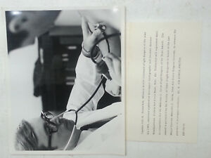 1970 US Air Force Photo MAC Military Airlift Command Flight Surgeon Examins Pt