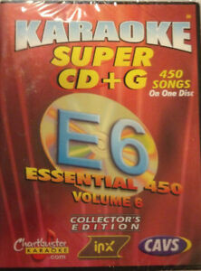 CHARTBUSTER ESSENTIAL SUPER CD+G Vol-6 450 Tracks Playable on CAVS System or PC