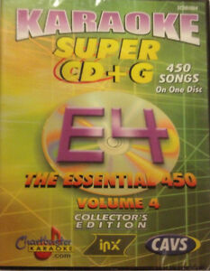 CHARTBUSTER ESSENTIAL SUPER CD+G Vol-4 450 Tracks Playable on CAVS System or PC