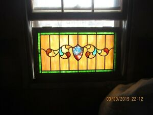 antique stained glass windows 1880-1920
