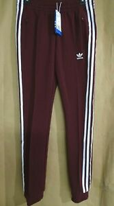 NEW adidas Originals Superstar Womens Colorado Track Pants Maroon White Trefoil