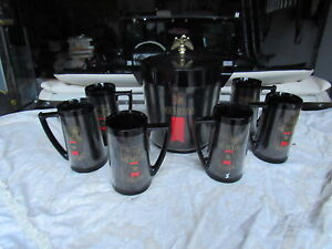 6 ANHEUSER BUSCH MICHELOB 16 OZ THERMO SERV BEER MUGS ICE HOLDER SET TAPPER LOT
