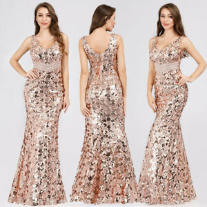 Ever-pretty US Long Celebrity Sequins Formal Gowns Cocktail Evening Party Dress