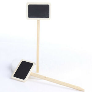 24 Mini Wood Chalkboard Stakes for Wedding and Party Table Marker