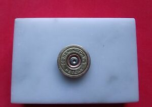 MARBLE BULLET PAPER WEIGHT,REMINGTON/ PETERS 20 GAGUE