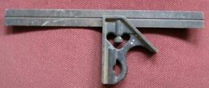 Vintage 12quot; Steel Right Angle Square Ruler Woodworking Measuring Tool $10.00