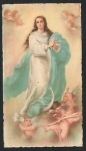 Holy card antique of Virgin Inmaculada santino image pieuse andachtsbild C $6.00