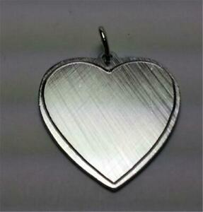 Vintage ELCO Sterling Silver - Large Engravable Heart Charm Pendant - NEW IN BAG