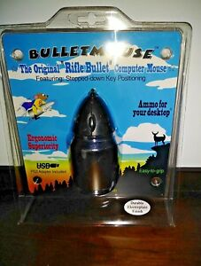 Bullet Mouse Rifle Bullet Shaped Computer Mouse NRA Hunting Gun Enthusiast Gift
