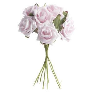 Sweet Bundle of Colorful Light Pink Roses for Event Decor