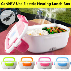 12V Portable Electric Heated Heating Lunch Box Bento For Car Travel Food Warmer
