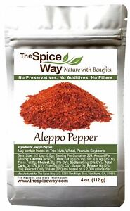 The Spice Way Premium Crushed Aleppo Pepper Flakes 4 oz