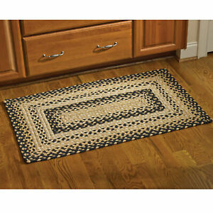Cornbread Braided Rectangle Rug - 8x10