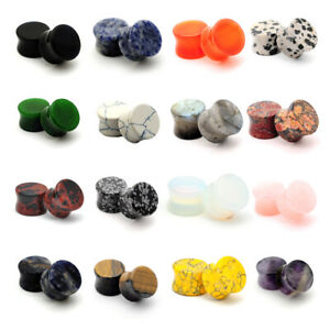 Pair of Double Flare Stone Plugs gauges Choose Size Type $5.99
