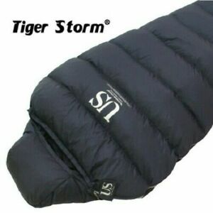 Tiger Storm US Extreme Cold Goose Down Sleeping BagNavy Color Camping Gear_NU