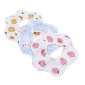 6-24 Month Babies Accessories 360 Degree Rotatable Saliva Burp Towel Cloth Q