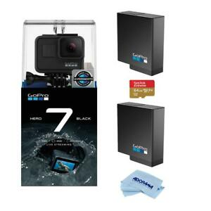 GoPro HERO7 Black - Bundle with Xtreme Action Monopod  32GB Memory Card