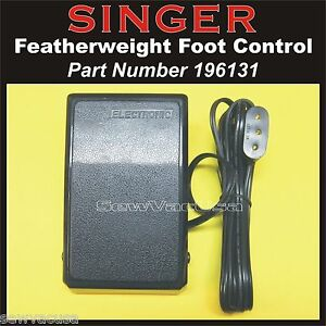 SINGER Sewing Machine Featherweight NEW Foot Control Pedal 196131 Fits 221 amp; 222 $29.99