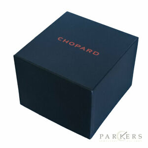 CHOPARD WATCH BOX BLACK RED STITCHING SQUARE COMPLETE WITH CUSHION