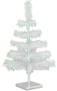 18'' White Christmas Feather Tinsel Tree Tabletop Holiday Tree