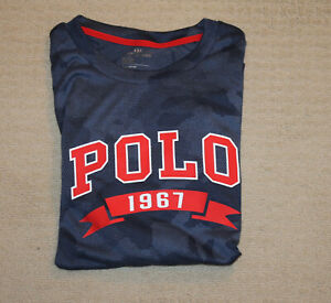 NEW Polo Ralph Lauren Big and Tall Polo Logo Blue Camo Performance T Shirt