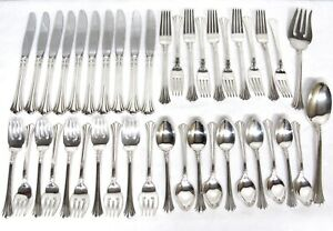 42 pc REED &BARTON STERLING Silver 18th EIGHTEENTH CENTURY Flatware SET 10 Place