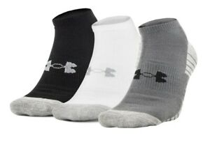 Under Armour U325 Men's UA HeatGear Tech No Show 3 Pack Athletic Socks 1303200 $13.99