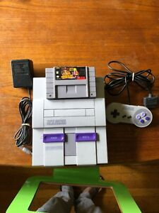 Super Nintendo SNES 1CHIP-03 ConsoleOEM RemoteOEM Power Supply WMario RPG