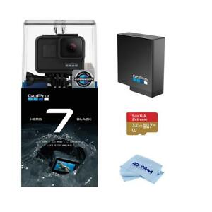 GoPro HERO7 Black WGoPro Rechargeable Battery32GB microSDHC U3 CardCleaning k