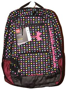 Under Armour Storm Hustle II Backpack #1263964  Pink Black Polka Dots
