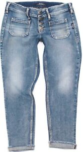 Silver Jean Co. Elyse Slim Crop Button Fly Mid Size 30x25 Actual 32x25