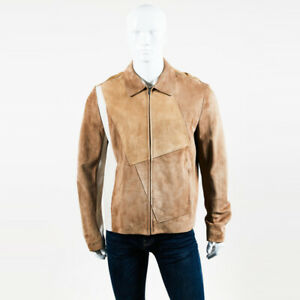 Balenciaga Suede Leather Jacket Men's SZ 52